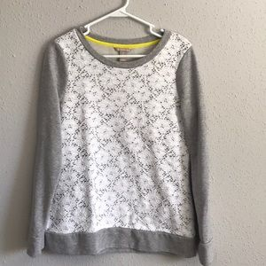 Banana Republic gray lace top